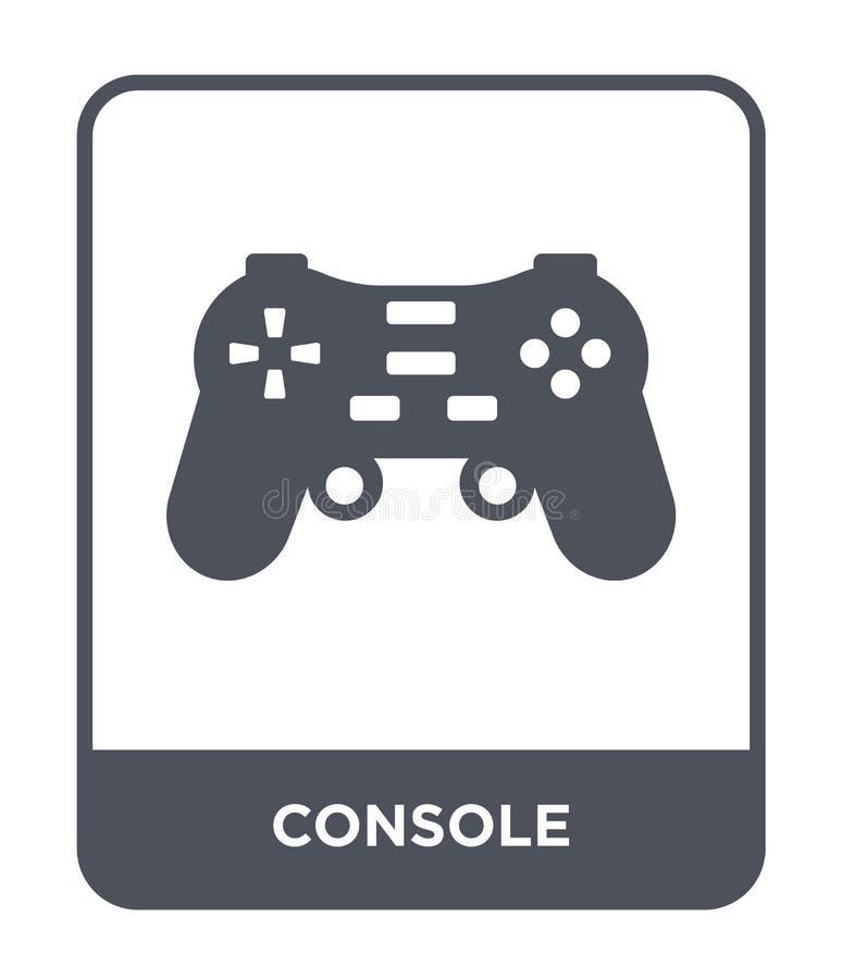 konsolsymbol i moderiktig designstil konsolsymbol som isoleras på vit bakgrund enkelt och modernt plant symbol för konsolvektorsy vektor illustrationer