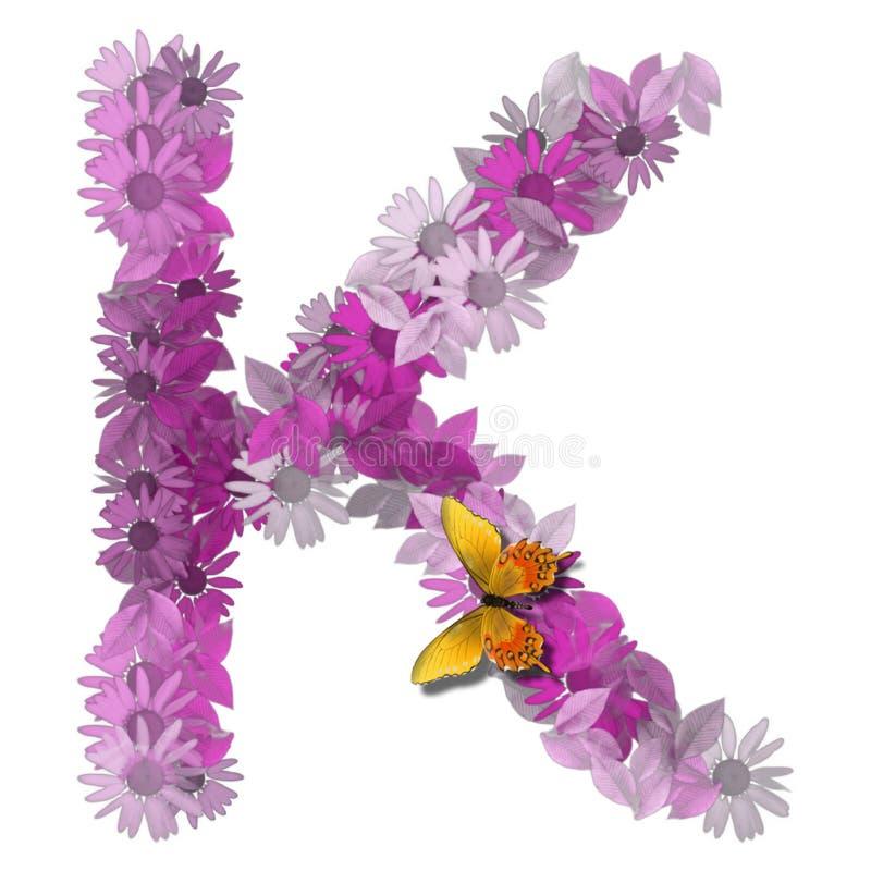 Konsonant K des alphabetischen Zeichens vektor abbildung