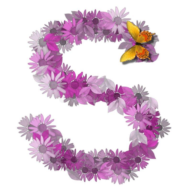 Konsonant S des alphabetischen Zeichens lizenzfreie abbildung