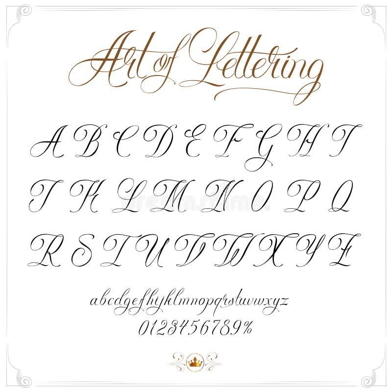Konst av bokstäver stock illustrationer