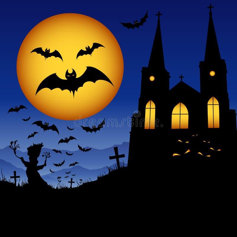 Konst av halloween stock illustrationer