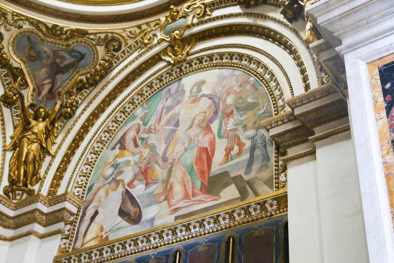 Konst av St Peter Basilica, Vaticanen arkivbild