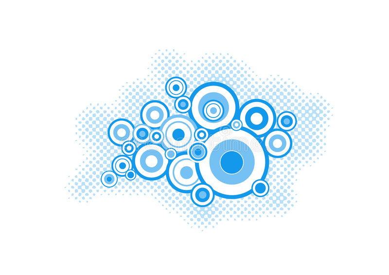 konst cirklar turkosvektorn vektor illustrationer
