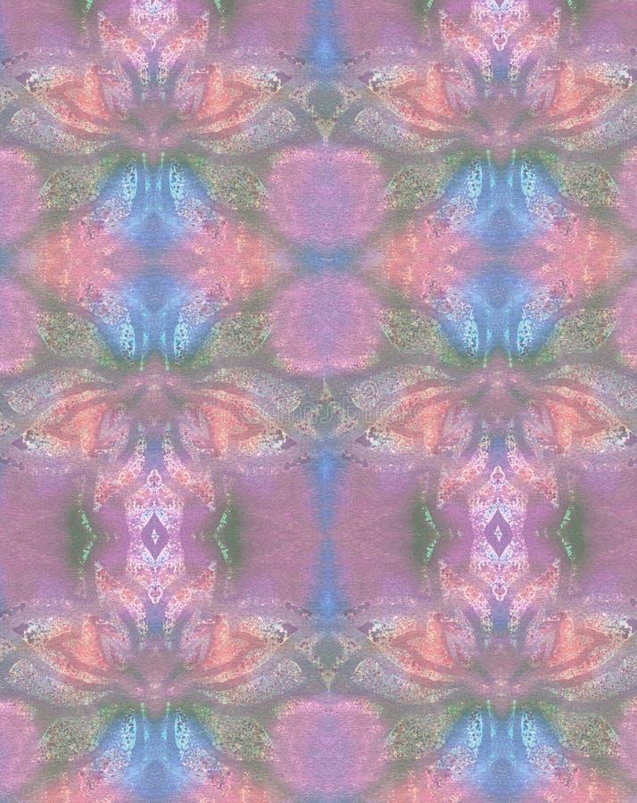 Konst färgade bakgrund med den abstrakta blomman royaltyfri bild