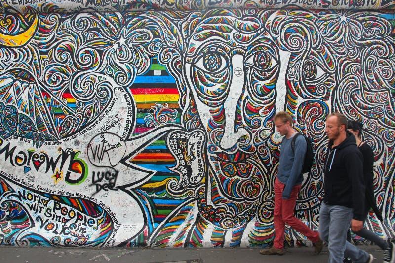 Konst för Berlin vägg arkivfoton