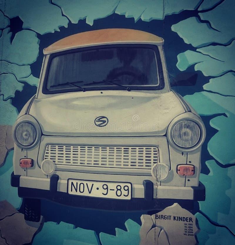 Konst för Berlin vägg royaltyfria bilder
