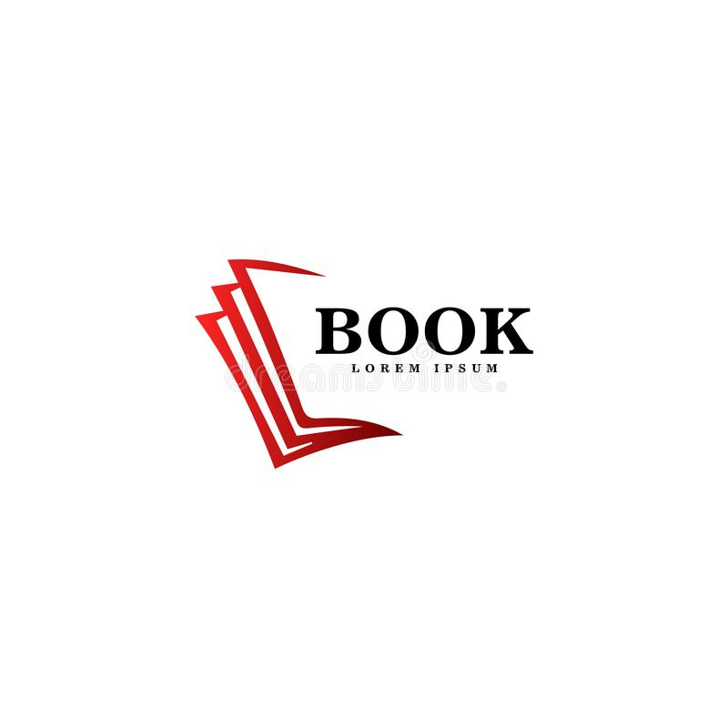 Konst för boklogovektor Logomall för din affär arkivbilder