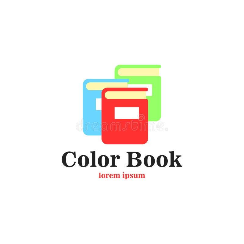 Konst för boklogovektor Logomall för din affär royaltyfria foton