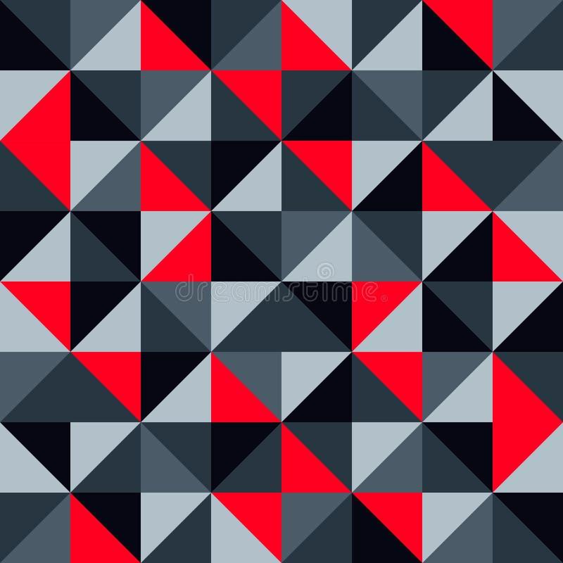 Konst för designen för sömlöst geometriskt abstrakt begrepp för modellvektorbakgrund gillar modern modern med den färgrika mosaik vektor illustrationer