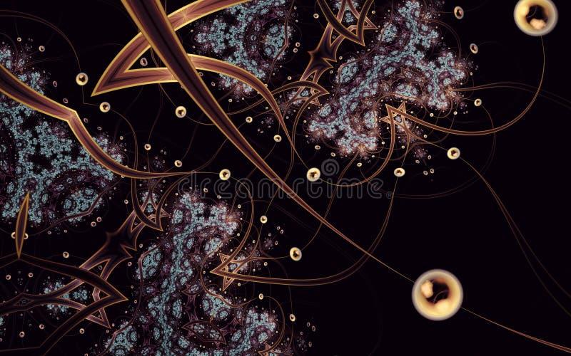 Konst för fractal för sfär 3 för abstrakt begrepp alienerad stock illustrationer