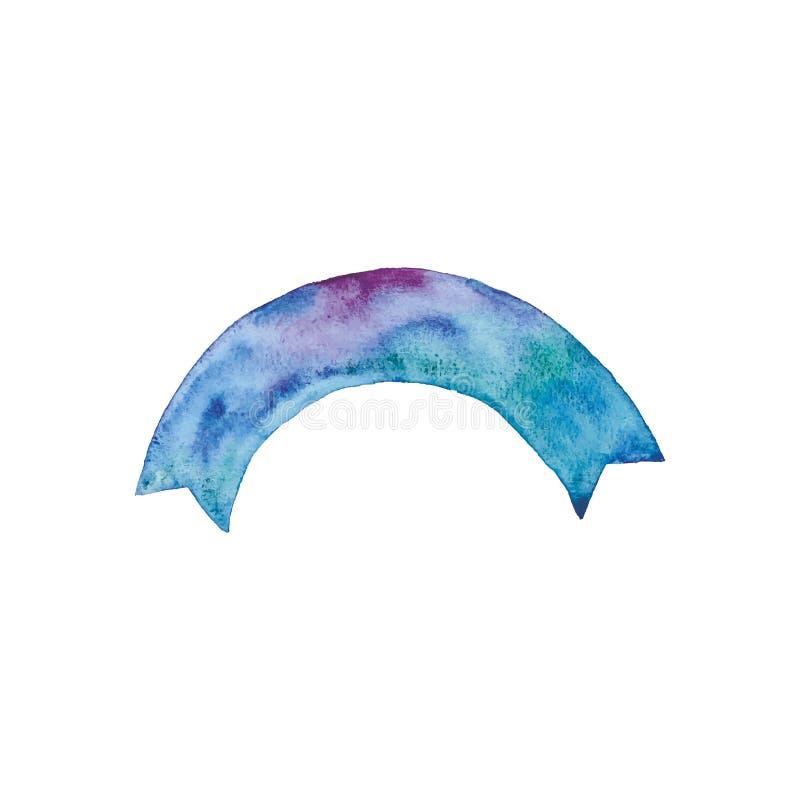 Konst för gem för vattenfärgstrumpebandsordenvektor vektor illustrationer