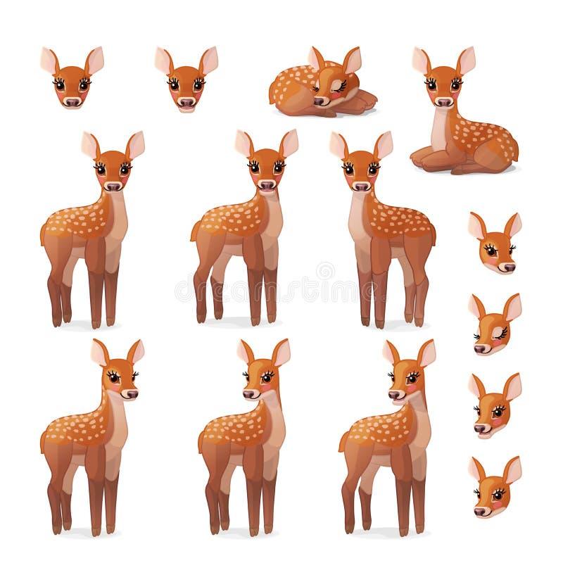 Konst för gem för vektortecknad film djur stock illustrationer