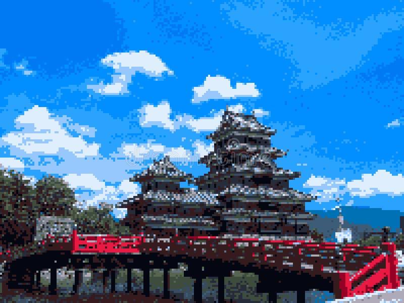 Konst för Japan slottPIXEL arkivfoto