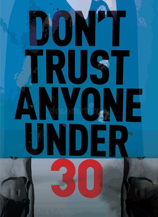 Konst för modern affisch för slogan abstrakt målningen; vilket innehåller a stock illustrationer