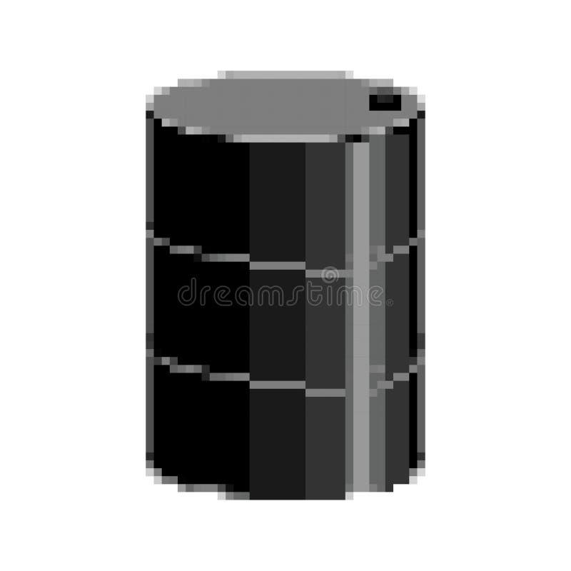 Konst för PIXEL för oljatrumma 8 bitfatoljor stock illustrationer