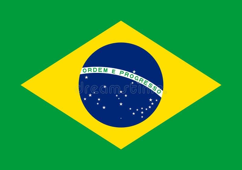 Konst för tryck för baner för isolat för Brasilien flaggavektor stock illustrationer