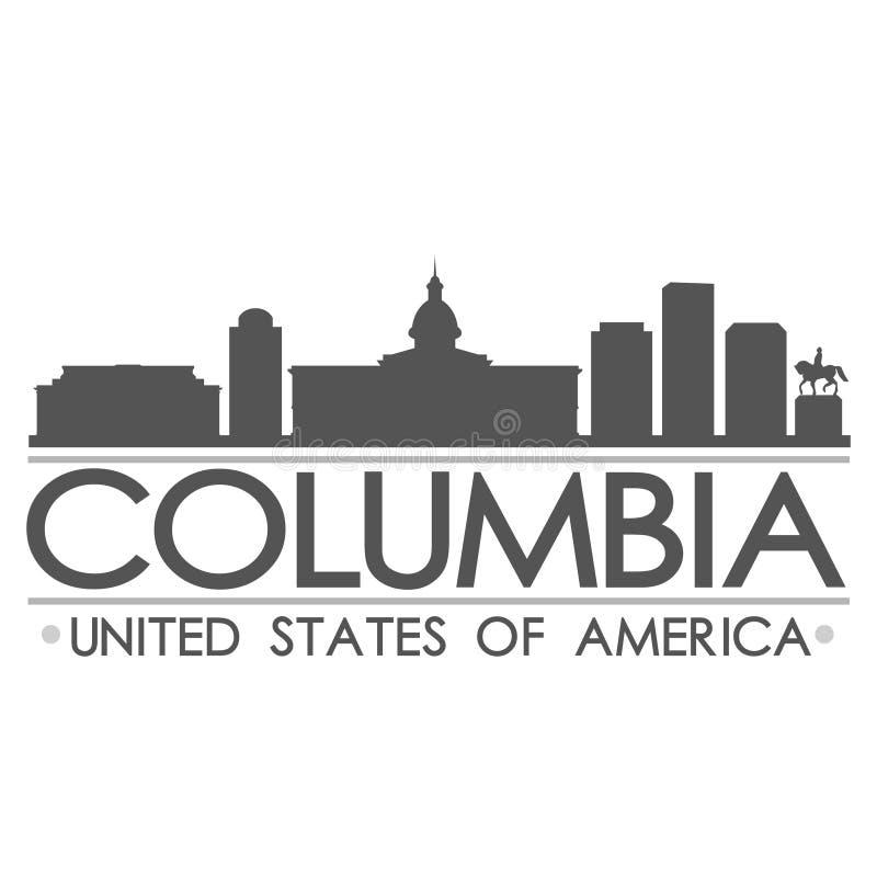 Konst för vektor för stad för design för Columbia horisontsymbol royaltyfri illustrationer