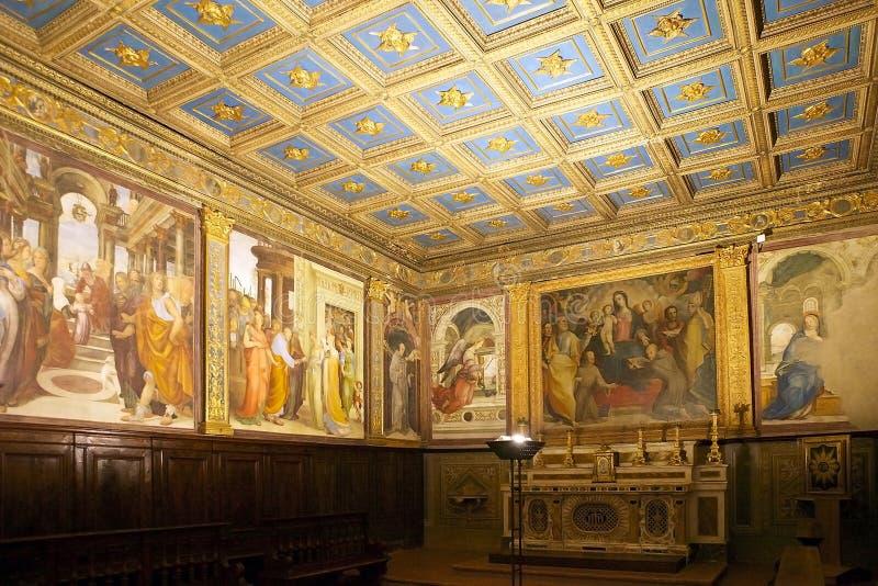 Konst och religion, Siena, Italien arkivfoton
