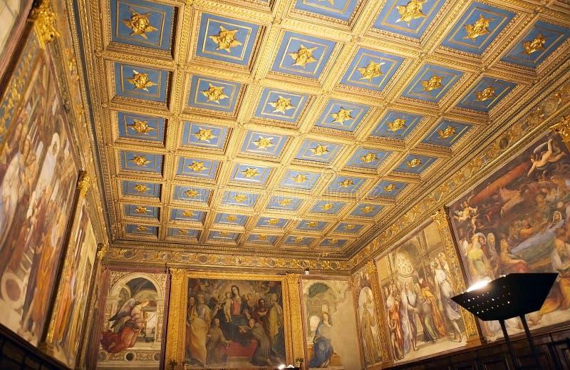 Konst och religion, Siena, Italien royaltyfri fotografi