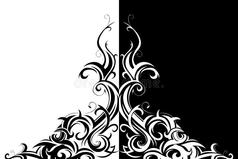 konst virveer stam- stock illustrationer