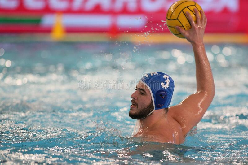 Waterpolo International Teams International Quadrangular - Hungary vs Greece. Konstantinos kakaris (greece) during International Quadrangular - Hungary vs Greece royalty free stock image