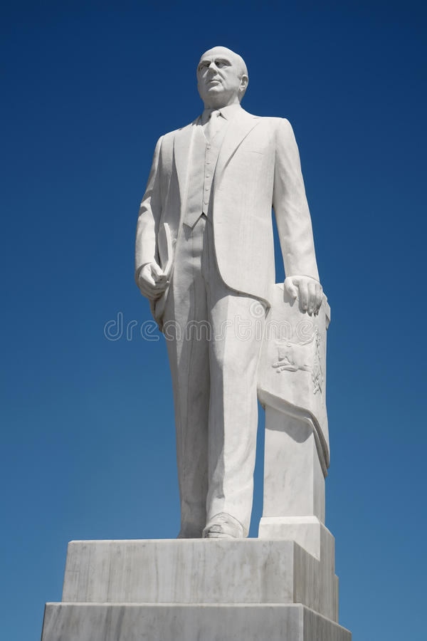 Konstantinos Karamanlis Statue imagem de stock royalty free