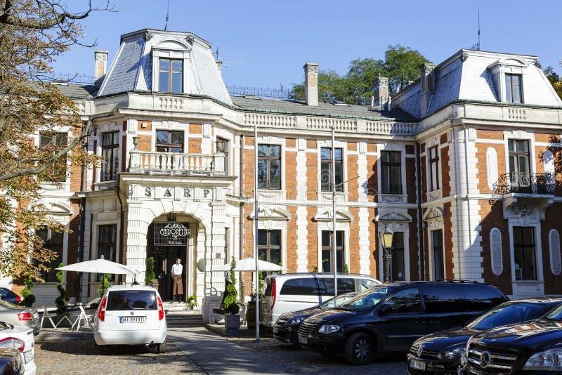 Konstanty Zamoyski Palace à Varsovie images libres de droits