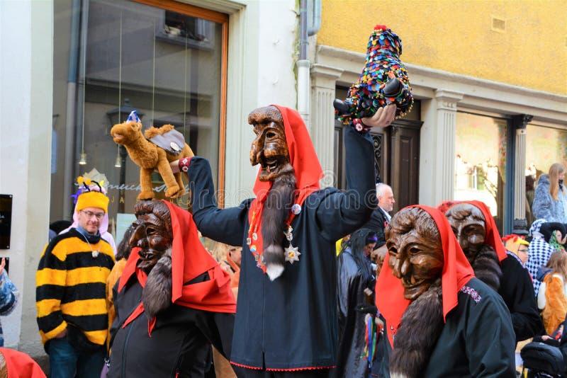 Konstanz Fasnacht Imperia Kostiumowi obrazy stock