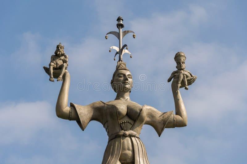 Konstanz, Germany: Imperia Statue. On a blue sky stock image