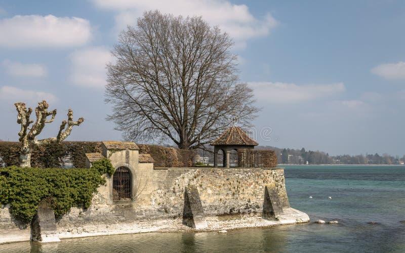 Konstanz, Niemcy: Rhine rzeki ujście fotografia royalty free
