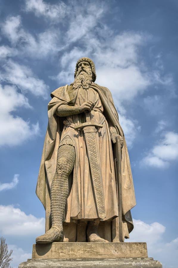 Konstanz, Niemcy: Statua na Rhine rzeki brzeg zdjęcia royalty free