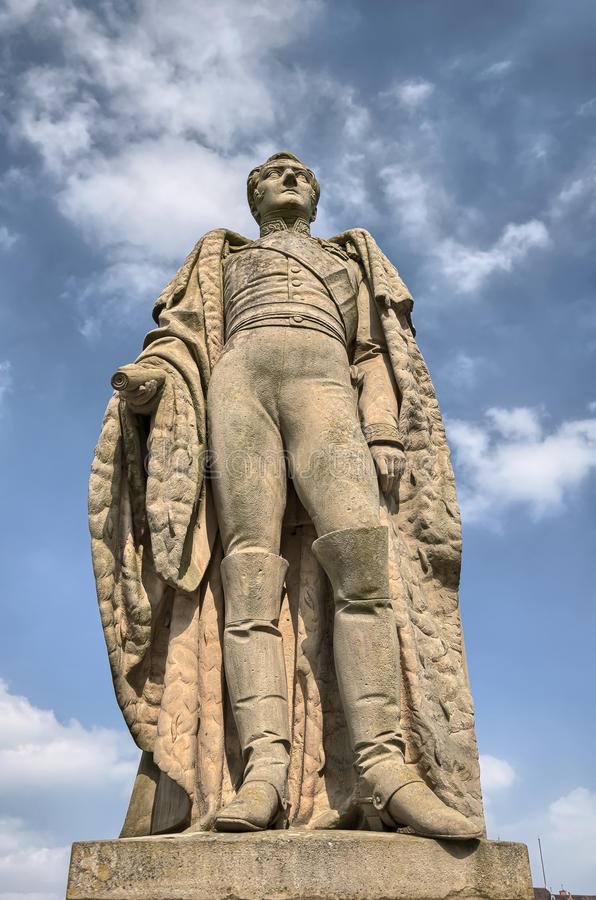 Konstanz, Niemcy: Statua na Rhine rzeki brzeg zdjęcia stock