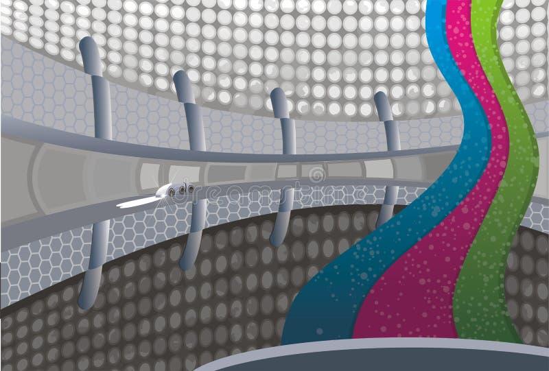 konstbakgrundsillustration vektor illustrationer