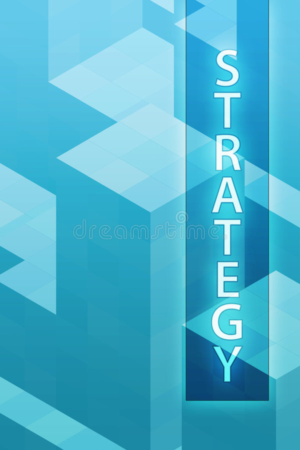 konstbegreppsstrategi royaltyfri illustrationer