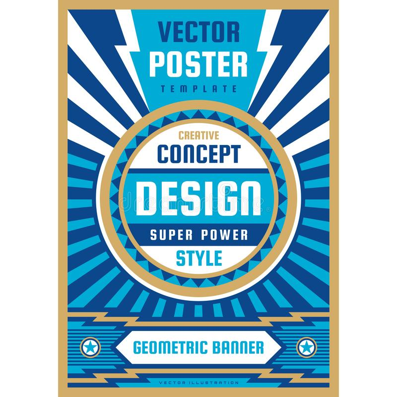Konstdesignaffisch Grafiskt vertikalt baner ocks? vektor f?r coreldrawillustration geometrisk abstrakt bakgrund vektor illustrationer
