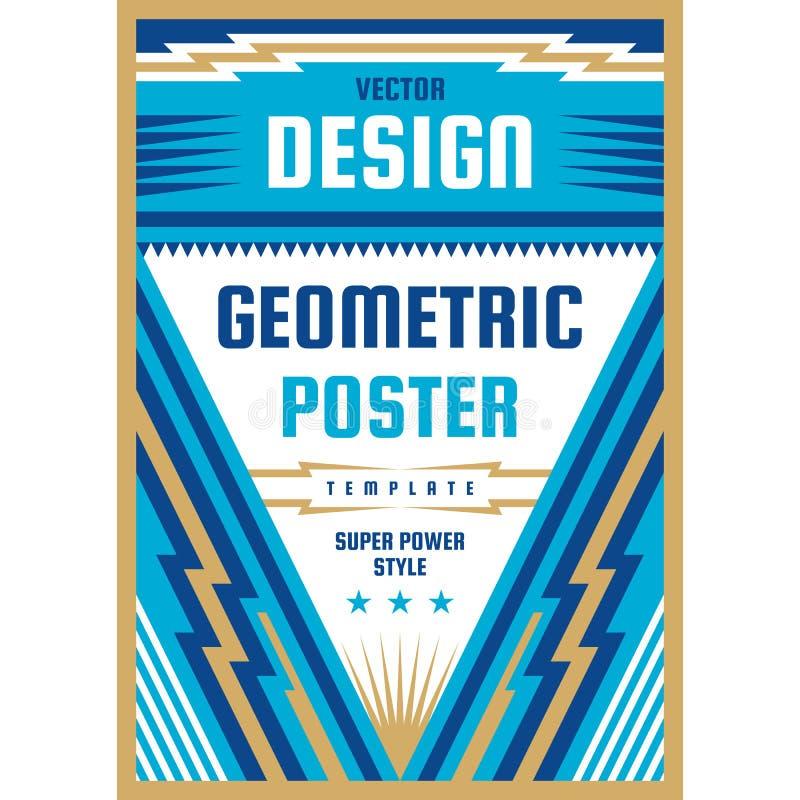 Konstdesignaffisch Grafiskt vertikalt baner ocks? vektor f?r coreldrawillustration geometrisk abstrakt bakgrund stock illustrationer