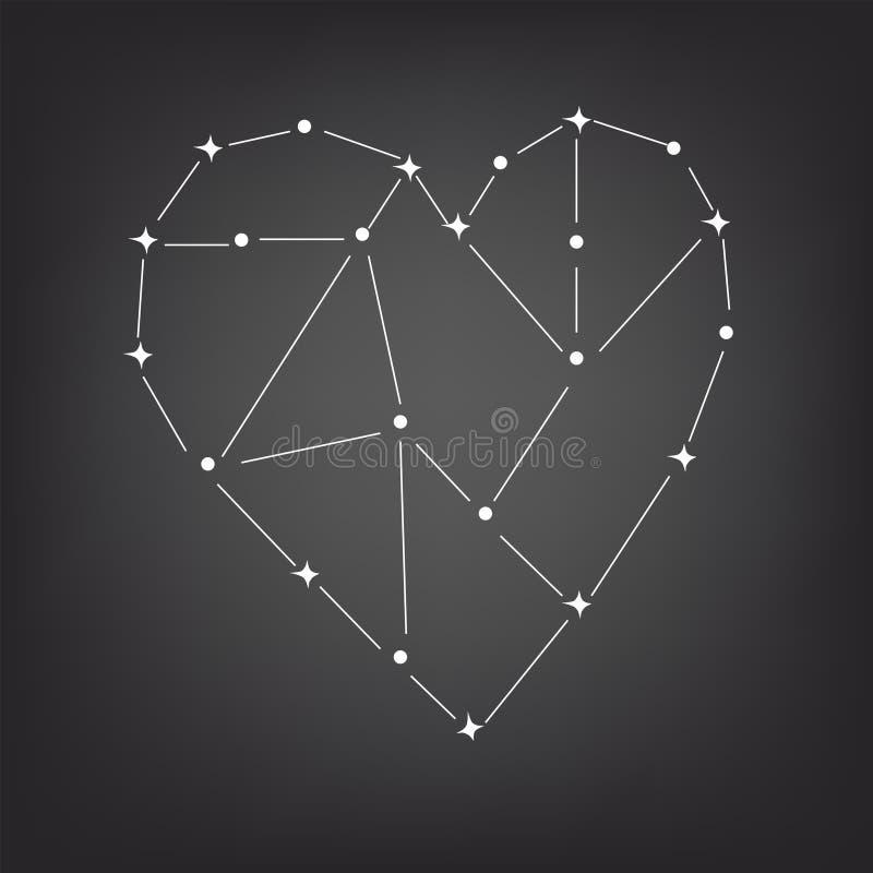Konstellation des Herzens stock abbildung