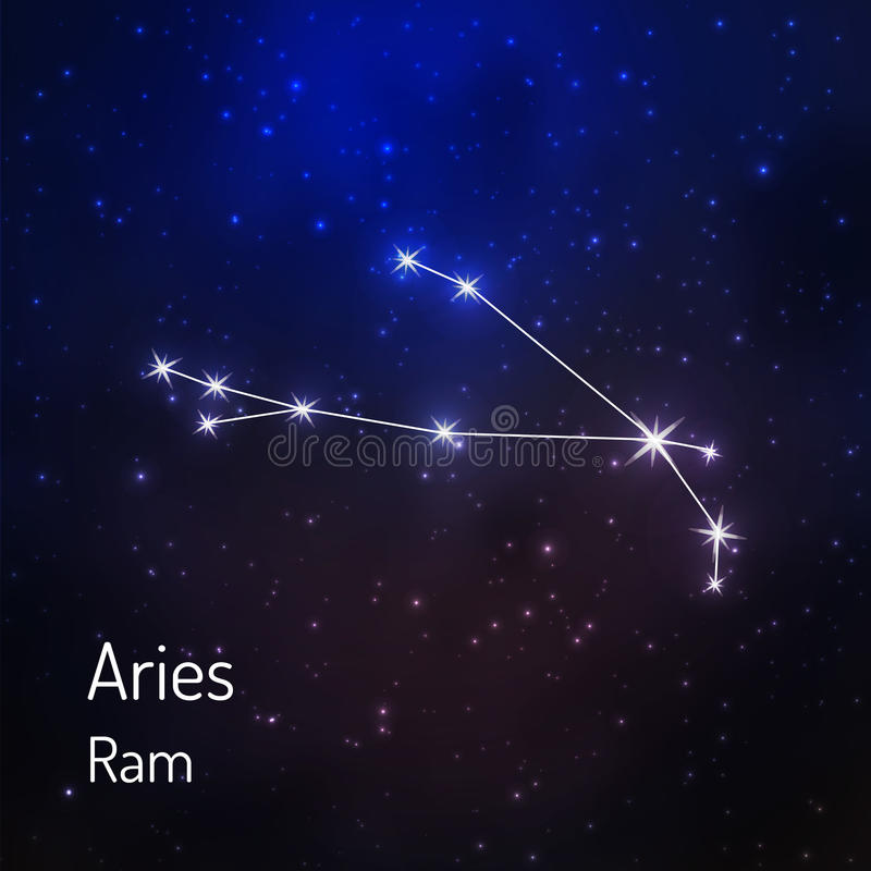 Konstellation im Nachtsternenklaren Himmel stock abbildung
