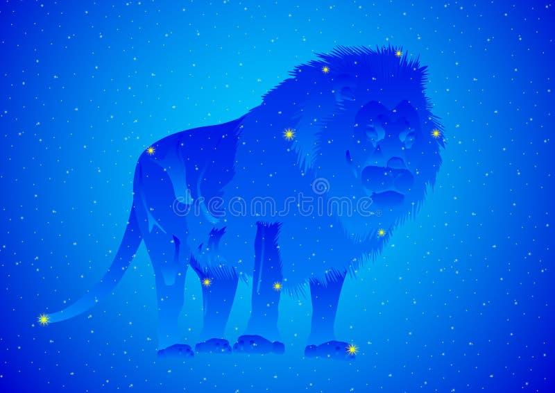 Konstellation Löwe stock abbildung