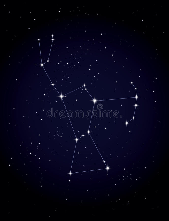 konstellation orion royaltyfri illustrationer