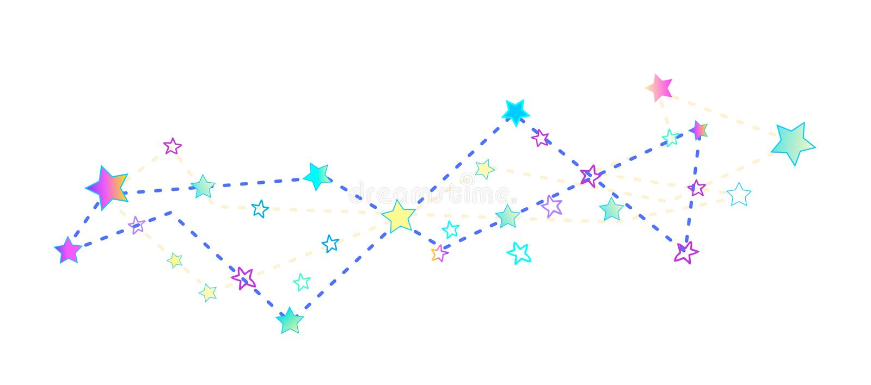 konstellation Von Hand gezeichnete Vektorillustration lokalisiert auf Weiß lizenzfreie abbildung