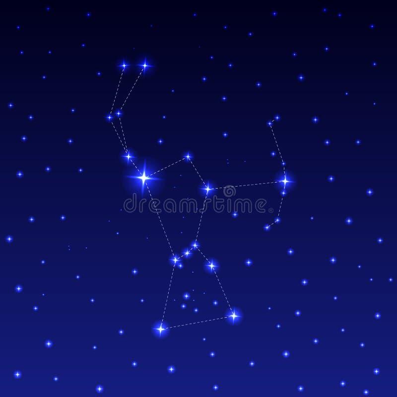 Konstellationen av Orion royaltyfri illustrationer