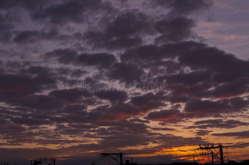Konsten av naturen i himlen royaltyfri bild