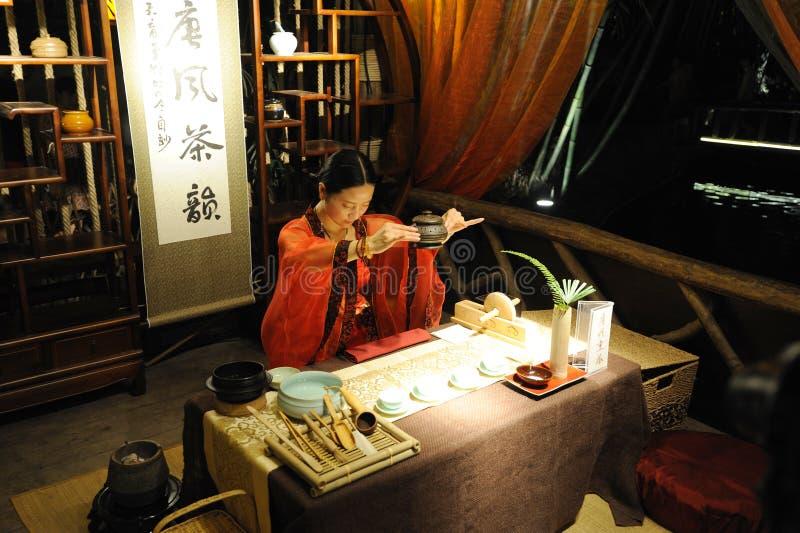 Konsten av Tea i kinesisk Tangdynasti royaltyfri foto