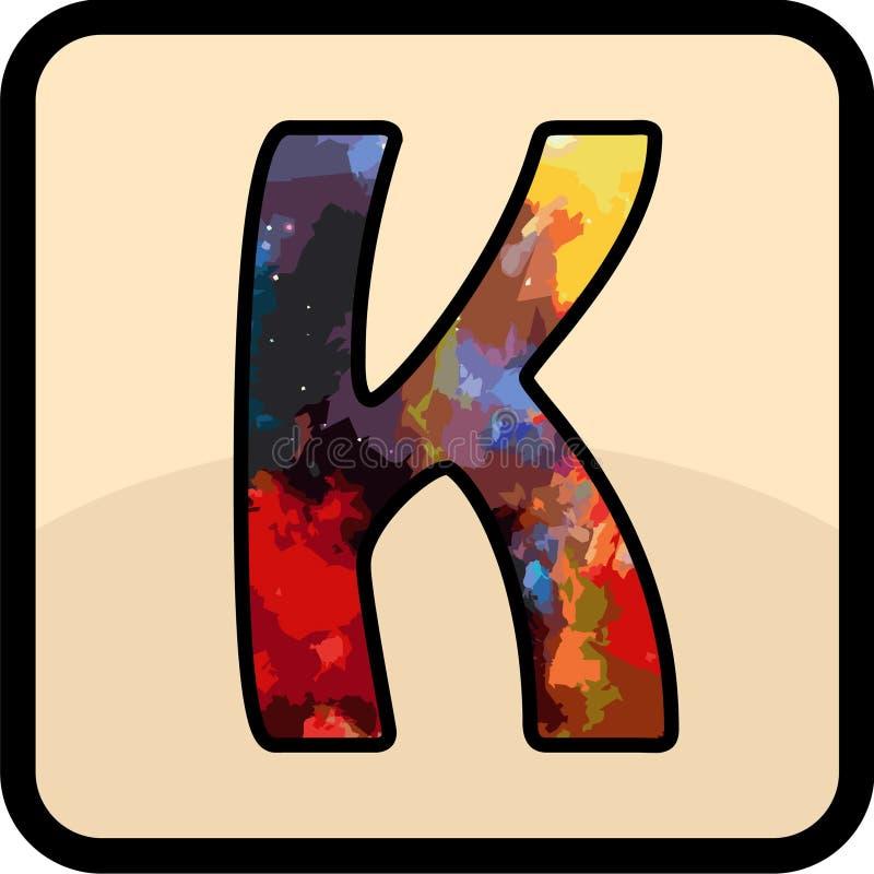 Konsten för bokstavsfärgdesign royaltyfri fotografi