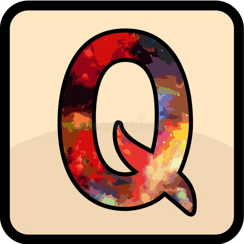 Konsten för bokstavsfärgdesign arkivfoton