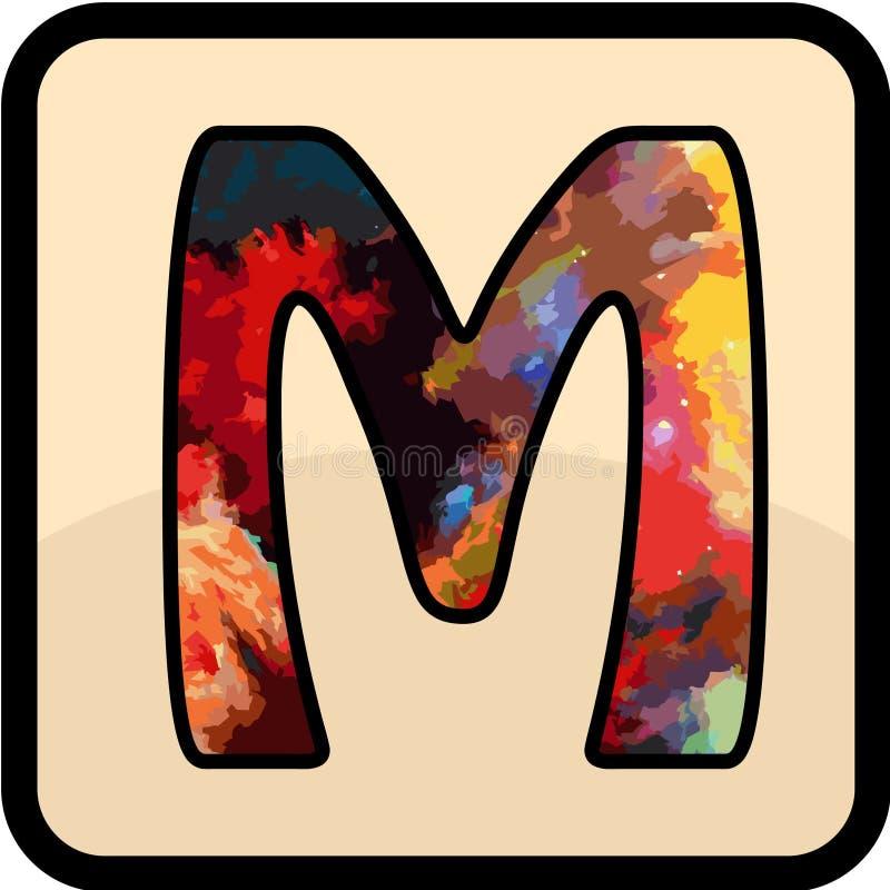 Konsten för bokstavsfärgdesign arkivbild