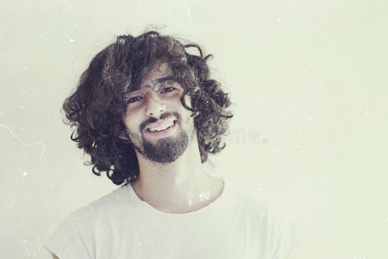 Konstfoto av den stiliga mannen arkivbild