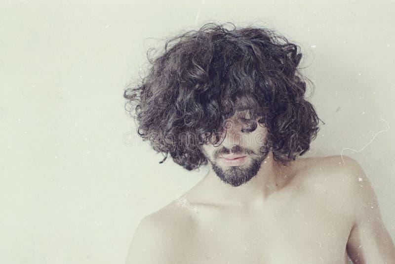 Konstfoto av den stiliga mannen royaltyfria foton