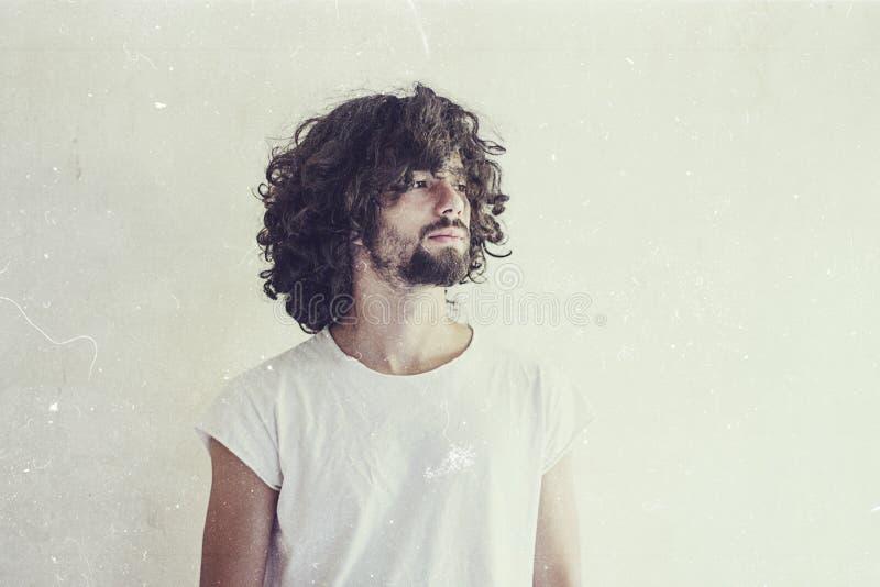 Konstfoto av den stiliga mannen arkivfoto